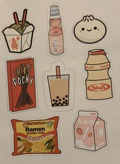 Preppy Stickers, Food Stickers, Anime Stickers, Kawaii Stickers, Journal Stickers, Scrapbook Stickers, Printable Stickers, Cute Stickers, Planner Stickers