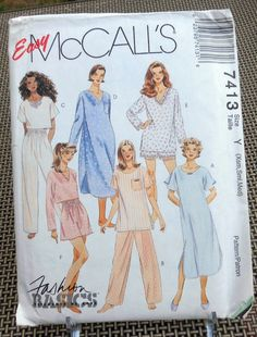 McCall s 7413 Easy Sew Ladies  Pajamas PJs by Clutterina on Etsy Mccalls  Sewing Patterns 55c0c78b8