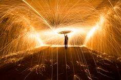 Light Painting Rain by Simon Berger