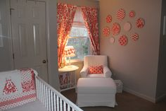 Project Nursery - Coral and Gray Vintage Inspired Girl's Nursery