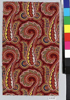 Piece | Russian | The Met Paisley Design, Paisley Pattern, Paisley Print, Textile Patterns, Textiles, Cotton Silk, Flower Art, Pattern Design, Jacobean