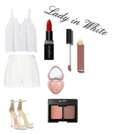 """Lady in White"" by style-queenxoxo on Polyvore featuring beauty, Elie Saab, Giuseppe Zanotti, Smashbox, Charlotte Russe, Chanel and Too Faced Cosmetics"