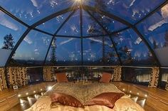 Backpacking Europe: Go to Finland. Rent a glass top igloo. Lay under the Northern Lights. - Hubub