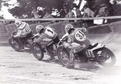 Kenny Roberts #1 in the thick of it, sandwiched by Corky Keener #62 and Rick Hocking #31z
