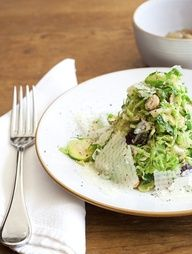 Brussels Sprout Salad - flavors of fall