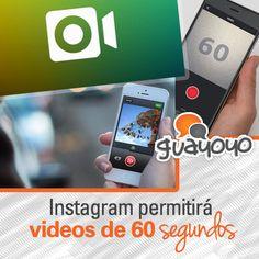 Instagram permitirá videos de 60 segundos.