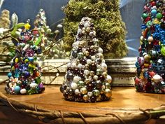 Tabletop Christmas Tree Christmas TablescapeBeaded Christmas | Etsy Bead Crafts, Diy Crafts, Tabletop Christmas Tree, Cross Art, Diy Jewelry, Unique Jewelry, Beads, Vintage, Holiday Decor