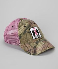 f4593c1a69872 Take a look at this Mossy Oak  amp  Pink Camo Trucker Hat on zulily today