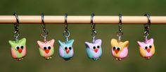 Owl Stitch Markers - Set of 6. $12.00, via Etsy.
