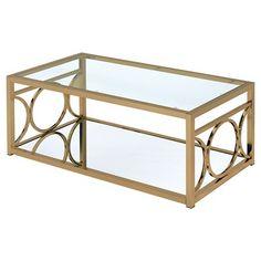 Coffee Table Sunnyside Gold - Furniture of America : Target