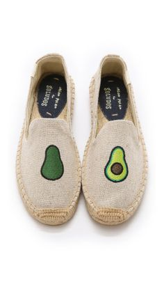 b7ce7082738a28 Favorite Slip-ons (these adorable Avocado Smoking Slippers from Soludos).  Sock ShoesCute ...