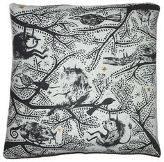 Forest Cushion by Tabby Booth  theriverrats.tumblr.com