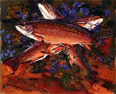 Autumn, Three Trout Tom Thomson - 1916
