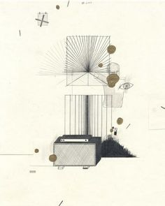 Yuri Masnyj A Breezy Afternoon 2003 graphite and gold ink on paper 10 1/2 x 8 inches MP# D-69
