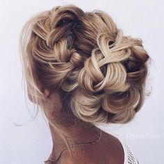 braided updo wedding hairstyle #weddinghair #bridalhair #updos #braidupdos #hairstyles #hair #upstyle #inspiration #pretty