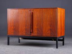 Denmark | Sigvard Bernadotte and Acton Bjørn, bar cabinet, rosewood with built-in refrigerator.  Midcentury.