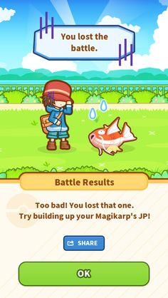 My poor Magikarp jumped up 52.10 m... but still lost. #Magikarp http://koiking.jp/r/