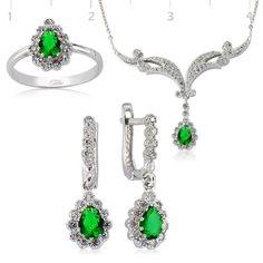 #bencekadındediğin Yeşil Zirkon Taşlı Set  http://www.besengumus.com/set/Yesil-Zirkon-Tasli-Set