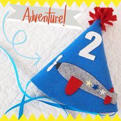 Airplane Birthday Felt Birthday Hat - Boys Birthday - Vintage Plane Party on Etsy, $15.00