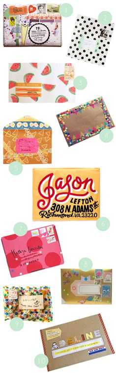 Here are 10 inspiring handmade envelopes. My favorite is #6! It's much better to find one of...