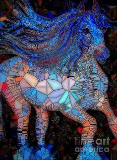 Horse Mosaic:art by Saundra Myles