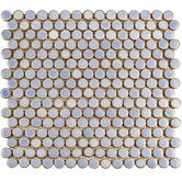 """Found it at Wayfair - Penny 0.75"""" x 0.75"""" Porcelain Mosaic Tile in Frost Blue"""