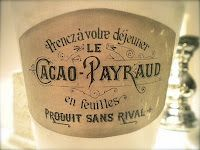 Wax Paper Transfer - love the idea of using antique french printables on vases, flower pots, etc.