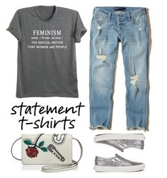 """Feminism"" by youaresofashion ❤ liked on Polyvore featuring Hollister Co., Vans, Marc Jacobs and statementtshirt"