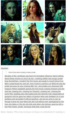 Elizabeth is the most pirate-y character in all of the Pirates of the Caribbean . - Elizabeth is the most pirate-y character in all of the Pirates of the Caribbean movies - Disney Pixar, Disney And Dreamworks, Narnia, The Pirates, Pirates Of The Caribbean, Female Pirates, Will Turner, Disney Love, Disney Magic