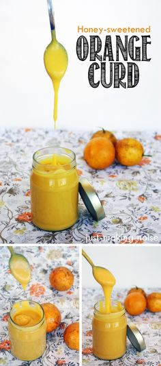 Honey-sweetened Orange Curd (with dairy-free option)  @ Just Making Noise: Sound Bites From a Deaf Mama