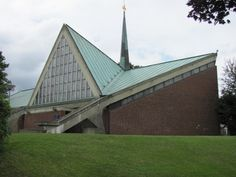"Church ""Heilig Kreuz"" (1964-65 ) in Hamburg, Germany, by Jörn Rau & Winfried Bunsmann"