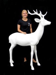 High quality Large White Reindeer available to hire. View Large White Reindeer details, dimensions and images. Winter Wonderland Decorations, Winter Wonderland Theme, White Reindeer, Prop Hire, Fun Cup, Poster Pictures, Large White, Classic Hollywood, Party Themes