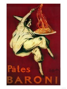 Pates Baroni - Vintage Advertisement (Art Print Available) Retro Poster, Vintage Posters, Vintage Art, Art Posters, French Vintage, Pasta Kunst, Pasta Art, Stretched Canvas Prints, Find Art