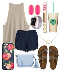 """""""Shopping """" by jadenriley21 on Polyvore featuring VILA, Birkenstock, Kendra Scott, Sonix, Kate Spade and Juicy Couture"""