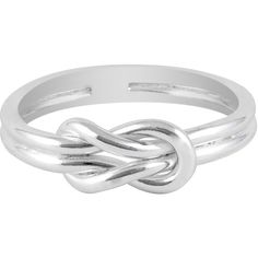 Jewel Exclusive Sterling Silver Sailor Knot Ring-6 ($13) ❤ liked on Polyvore featuring jewelry, rings, multi, wedding band rings, knot ring, sterling silver jewellery, sterling silver wedding rings and sailor jewelry