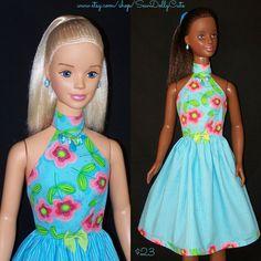 My Size BARBIE Doll Frozen ELSA & ANNA Aqua by SewDollyCute