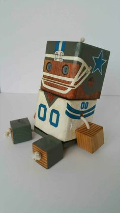 Cowboys - wood toy, natural wood, wood robot, DIY toy #woodtoy