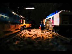 Train Graffiti done by Lego graffiti artist: Lego always had street cred, and this proves it.