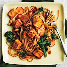 One of the BEST recipes I've ever made. Udon Noodle Salad with Broccolini and Spicy Tofu Recipe