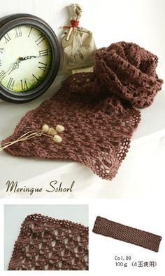 crochet scarf - free pattern diagram