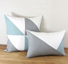 Triangle Modern Colorblock Pillow Cover Grey/ by celineandkate