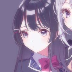 Friend Anime, Anime Best Friends, Kawaii Anime Girl, Anime Art Girl, Couple Avatar, Lolis Neko, Anime Friendship, Matching Profile Pictures, Anime Love Couple