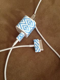 Washi tape iPhone charger