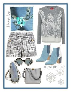 """""""Transition Time"""" by saint-germain on Polyvore featuring Boutique Moschino, George, Laurence Dacade, Gurhan, Valentino and Gucci"""