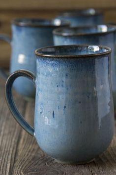 Handmade Blue Pottery Coffee Mug – Mad About Pottery Blue Pottery, Pottery Mugs, Ceramic Pottery, Thrown Pottery, Ceramic Mugs, Stoneware, Ceramic Bowls, Ceramic Art, Pottery Supplies
