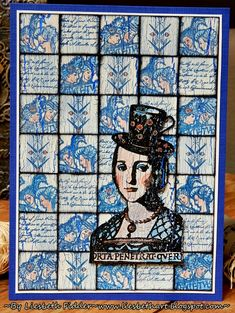 For PaperArtsy Blog I made Delft Blue tiles! I used several Lynne Perrella punches and super Fresco Finish paint products!