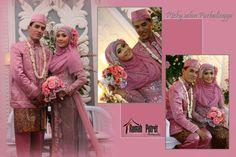 pink #hijab #bride #wedding #syariwedding #khimar