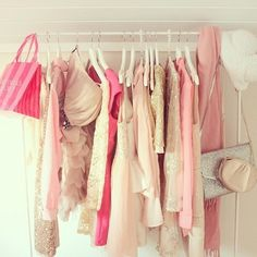 pink hanging fashion fun  I'm going to start trying to be more feminine and girly! :3