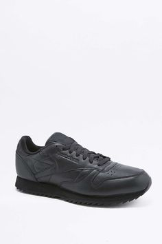 Reebok Classic Leather Ripple Black Trainers e53136fd3
