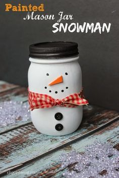 6 Christmas Mason Jar Crafts Full of Holiday Cheer | With just a few supplies, this standard kitchen item is easily transformed into fun seasonal décor.